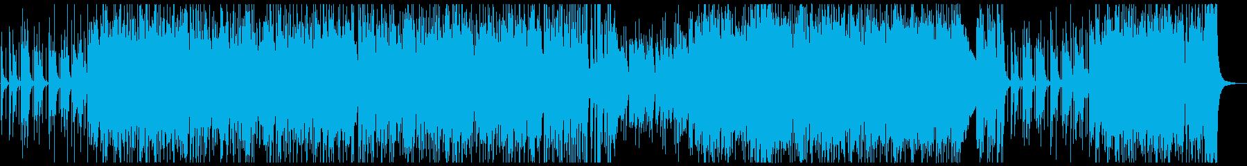 アップテンポのJAZZ(ピアノトリオ)の再生済みの波形