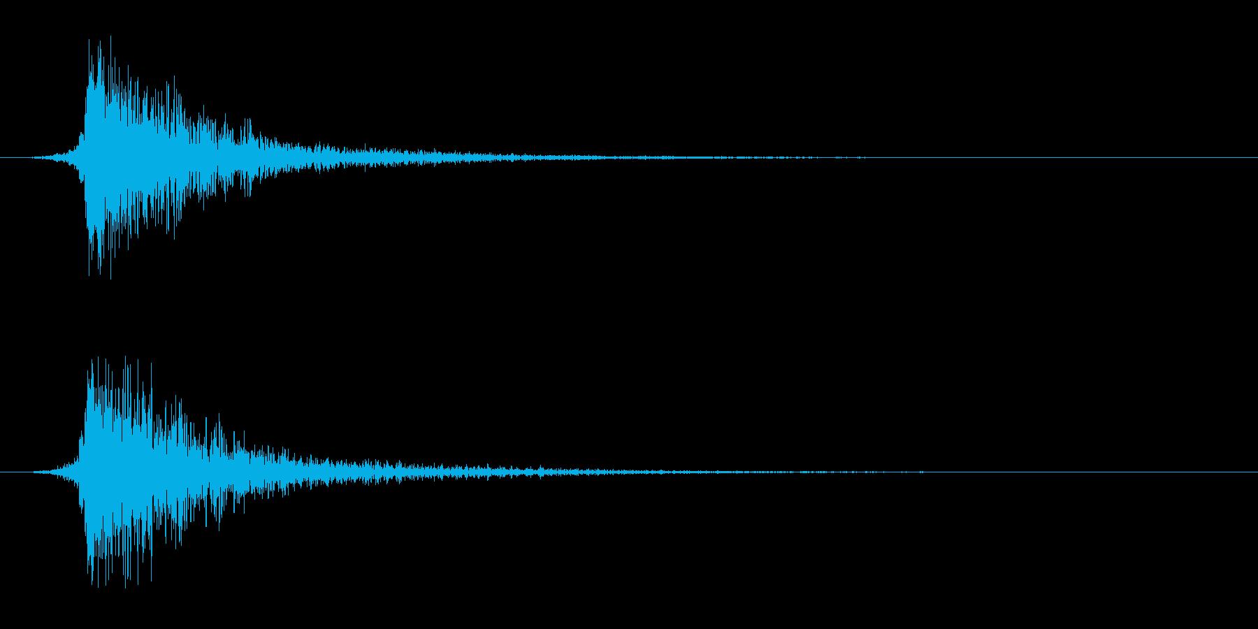 シュードーン-8(インパクト音)の再生済みの波形