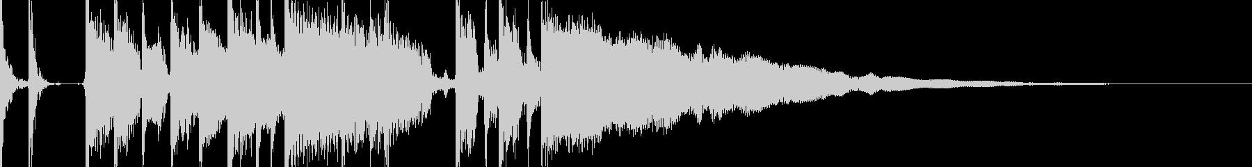 オシャレ エレキギター ジングル10秒の未再生の波形