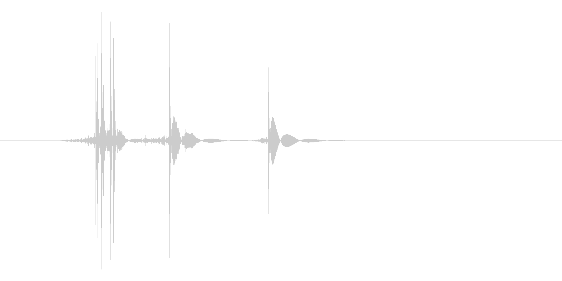 ゲーム(ファミコン風)ヒット音_027の未再生の波形