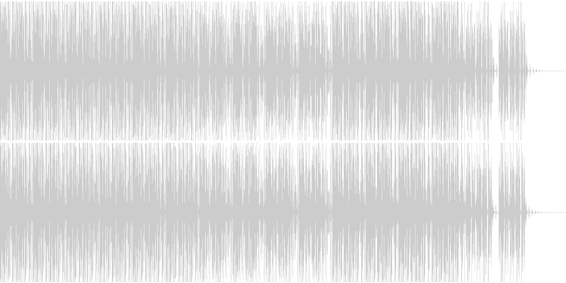 ゆったり系トランスの未再生の波形