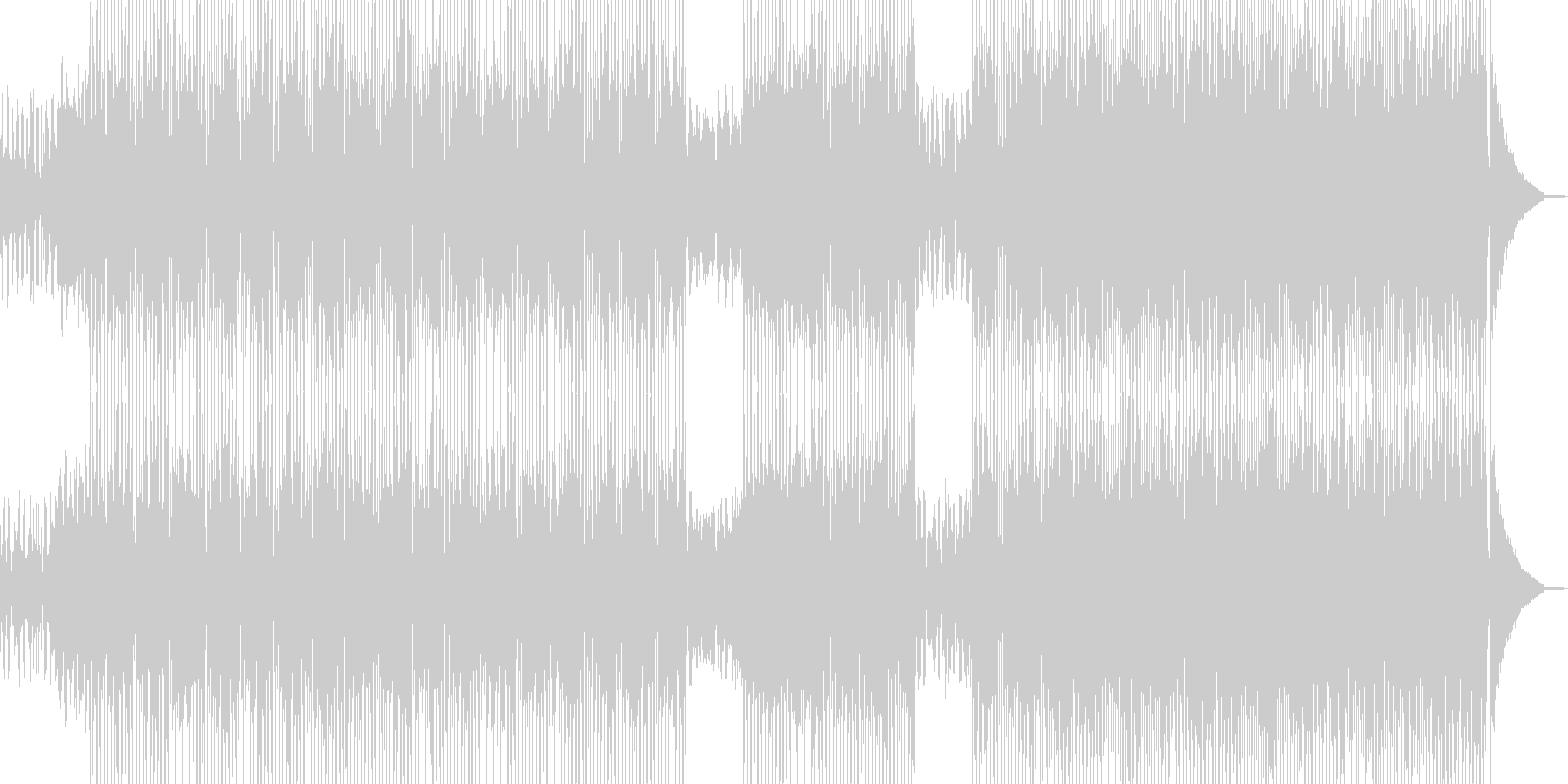 ログカフェをイメージしたテクノ B★の未再生の波形