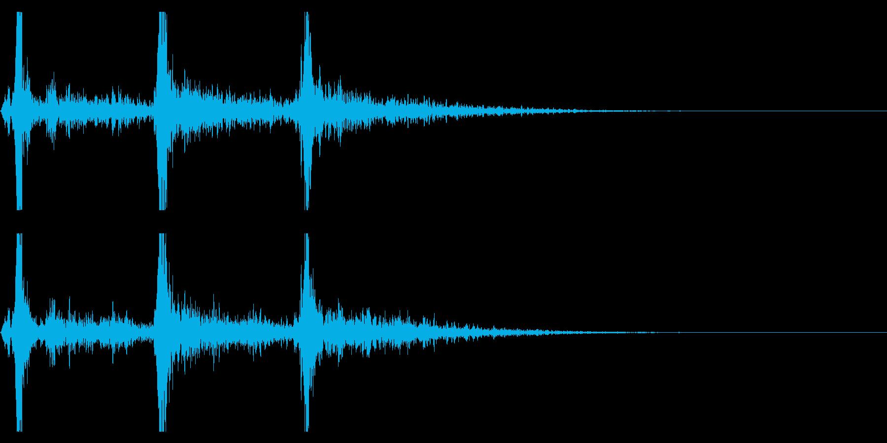 シャン×3(鈴の音・3回・広がりあり)の再生済みの波形