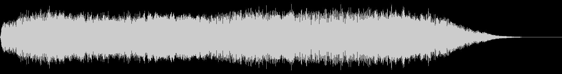 重層で広がりのあるサウンドロゴ、ジングルの未再生の波形