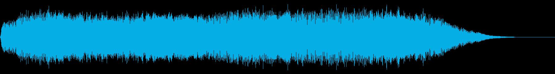 重層で広がりのあるサウンドロゴ、ジングルの再生済みの波形