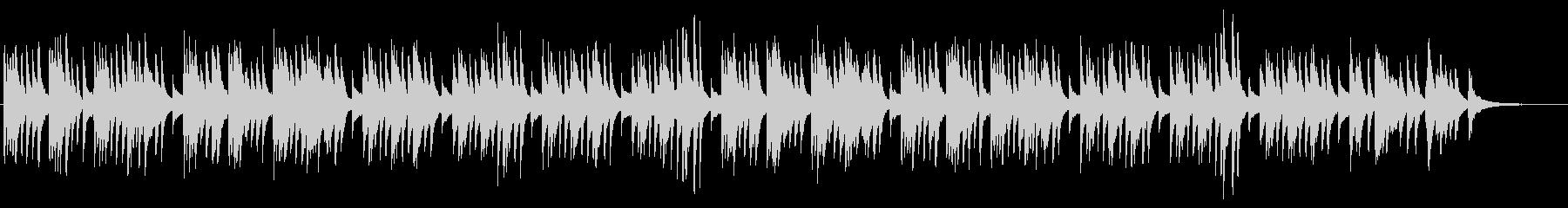 懐かしい和を感じさせるピアノソロBGMの未再生の波形