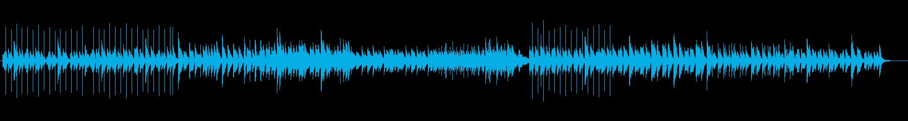 シンコペートピアノ、ブラシ、フィン...の再生済みの波形