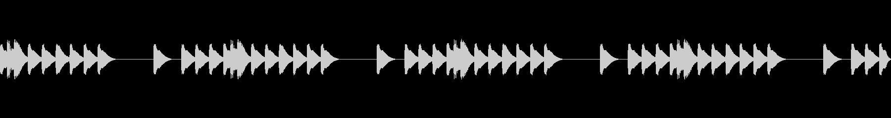 かわいいスマホ着信音 マリンバの未再生の波形