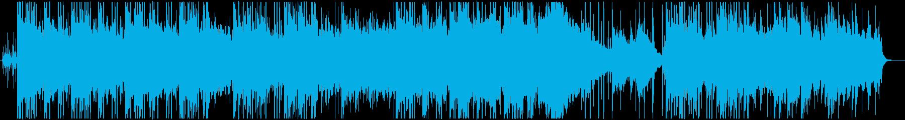 アコースティック、チル系ヒップホップの再生済みの波形