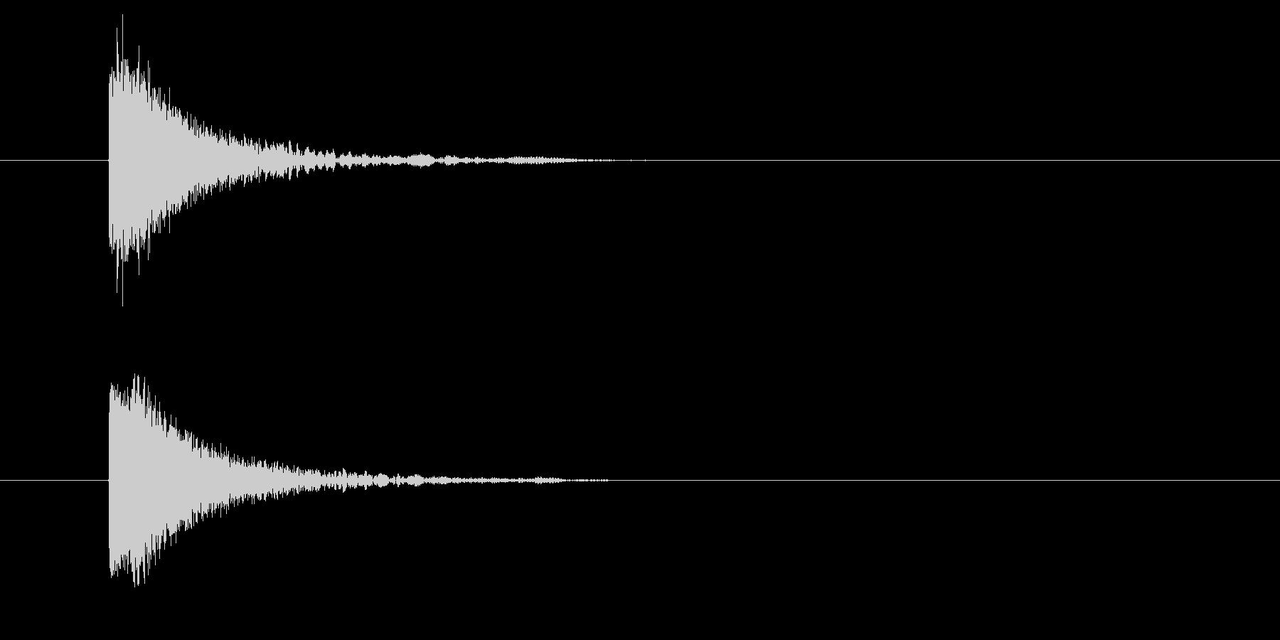 カットイン/場面の切り替え/アニメ/映像の未再生の波形