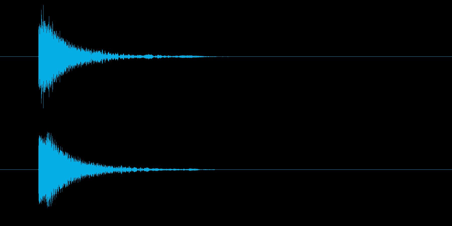 カットイン/場面の切り替え/アニメ/映像の再生済みの波形