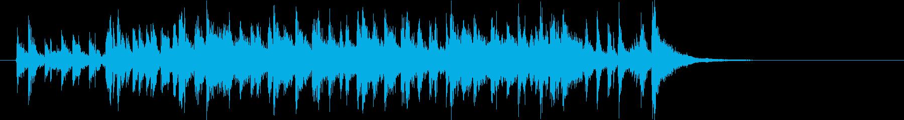懐かしい雰囲気のオシャレなレトロポップの再生済みの波形