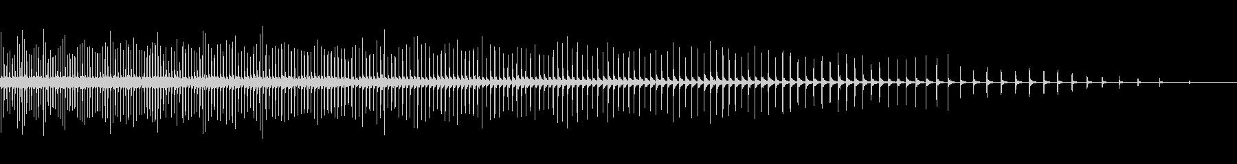 [生録音]自転車のラチェット音02-中速の未再生の波形