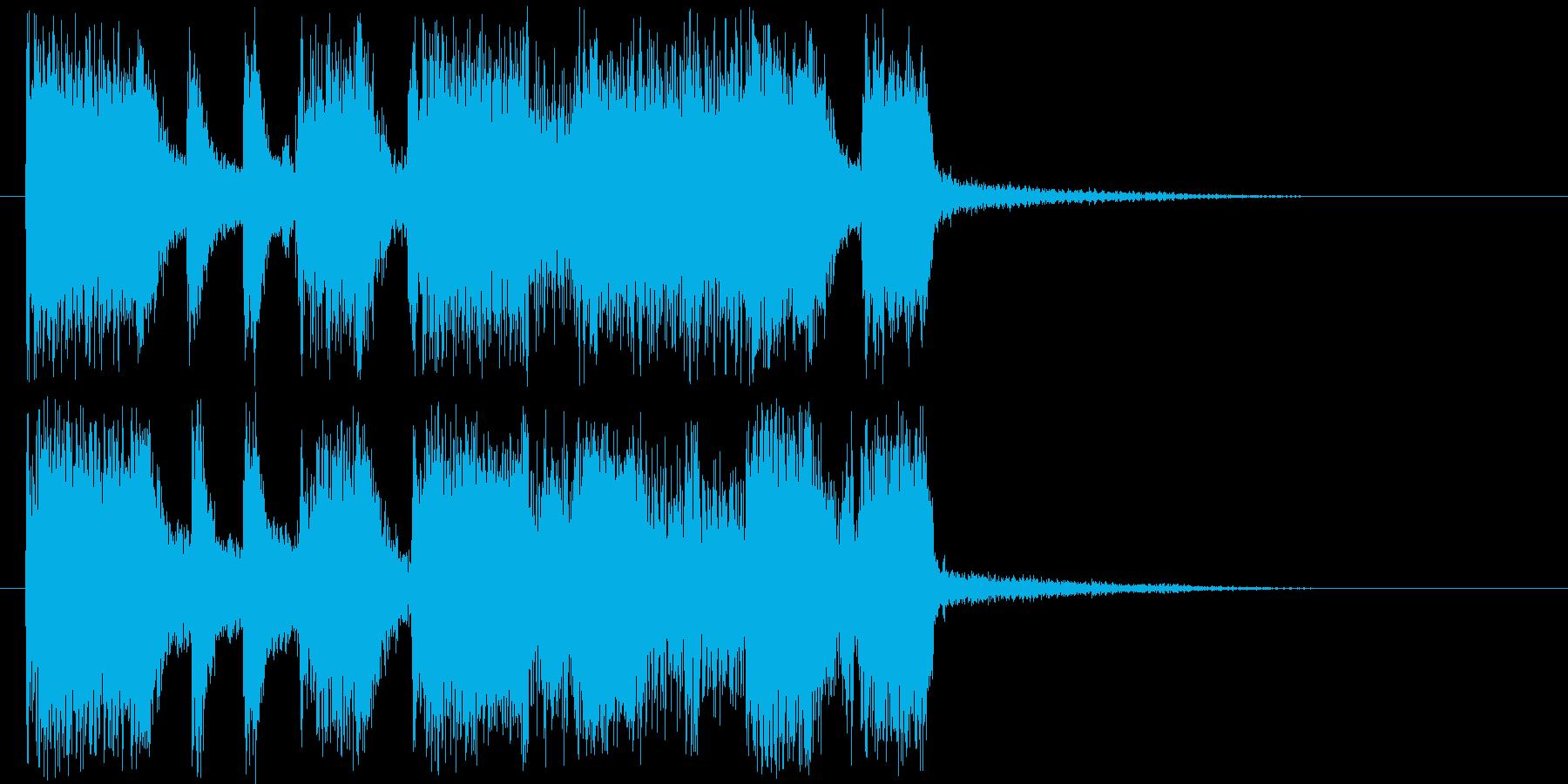 活気のあるギターロック短めジングルの再生済みの波形