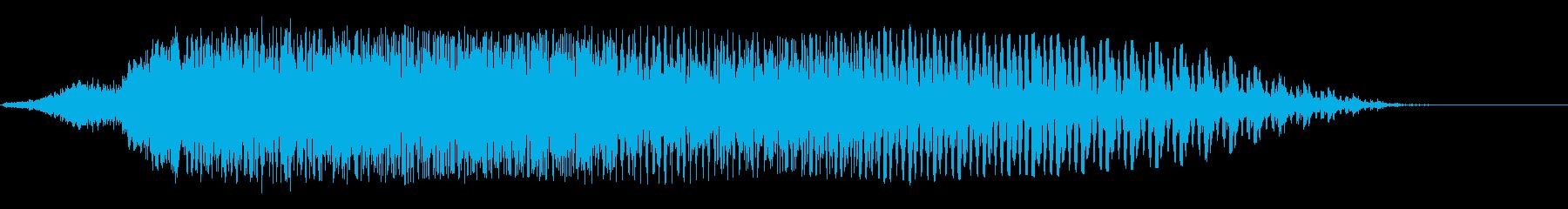 ブゥーーン(シンプルな飛行音)の再生済みの波形