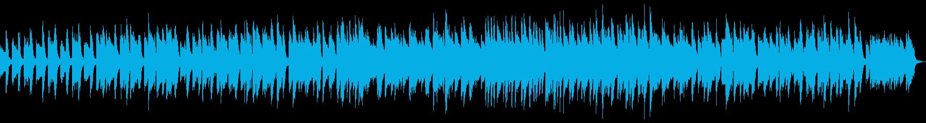 アップテンポの陽気なピアノラグタイムの再生済みの波形