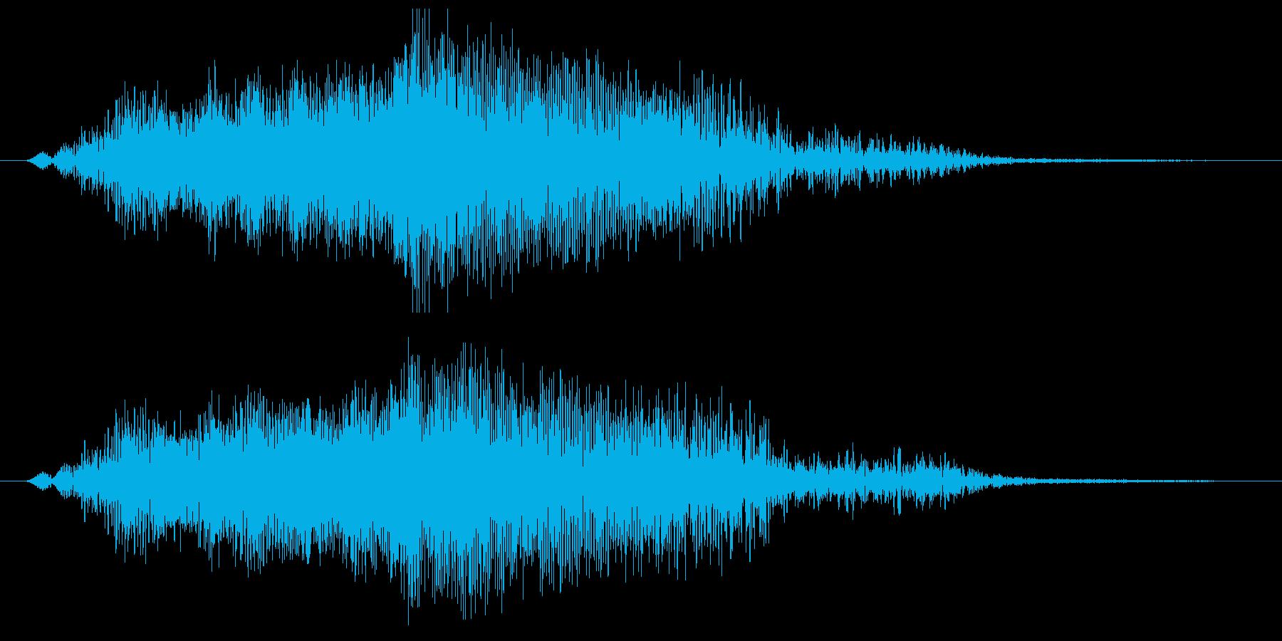 映画のタイトルが出てくるような効果音1の再生済みの波形