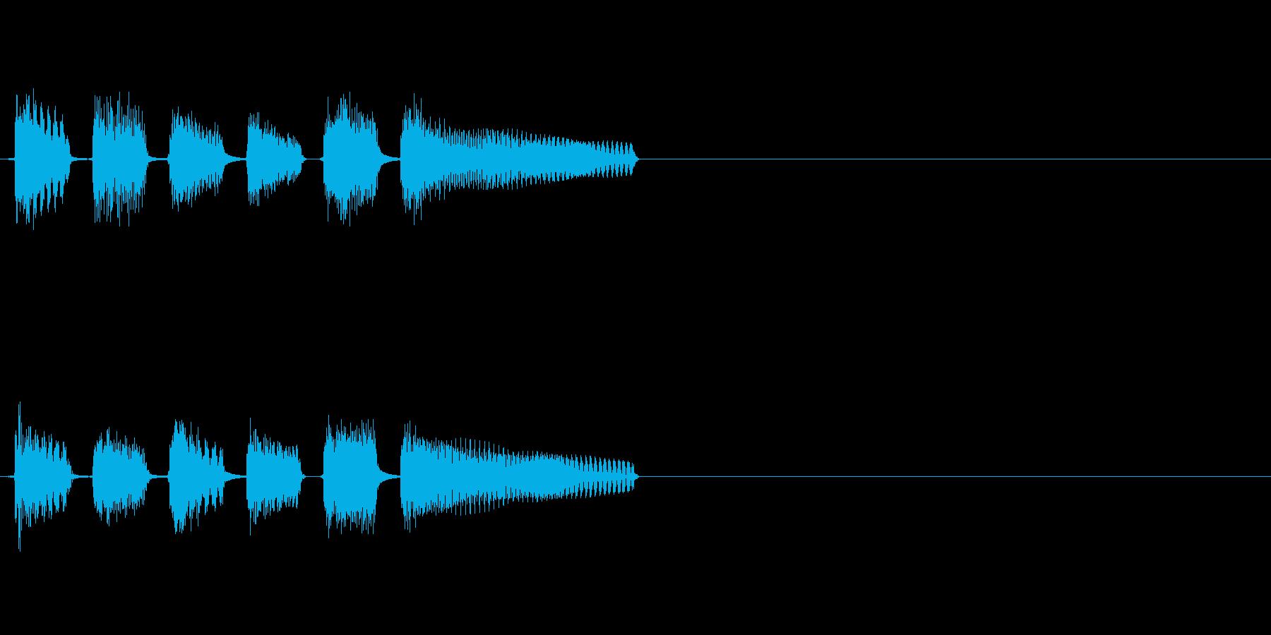 ピンポンパンポンピンポン!という正解音の再生済みの波形