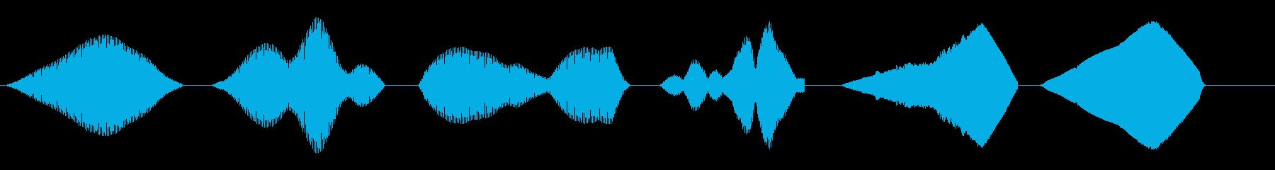 SWEEP、FREQ、CHOP、S...の再生済みの波形