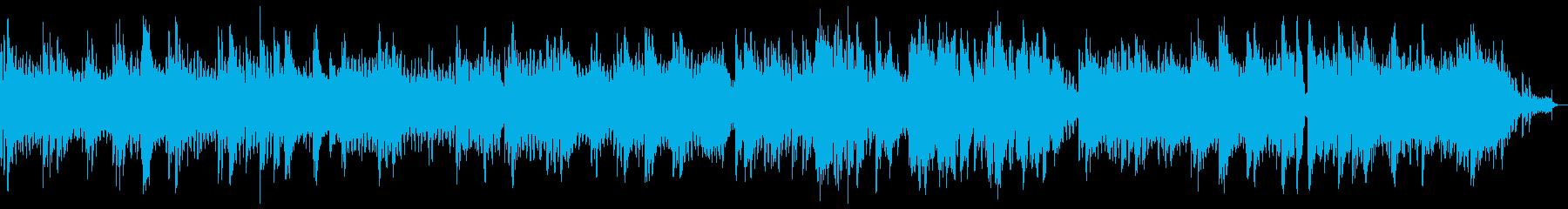 ひっそりした不気味なメロディーの再生済みの波形