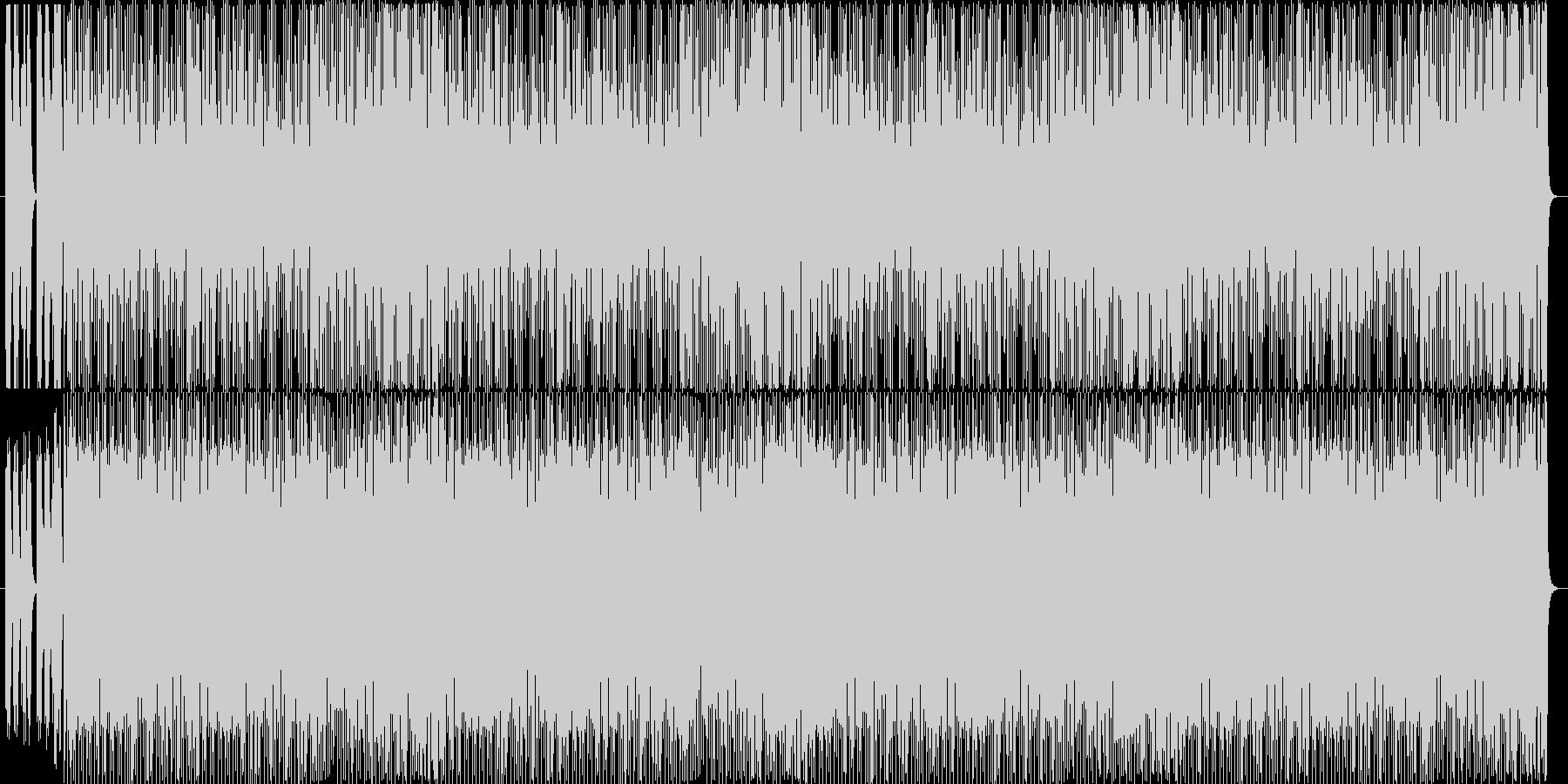ドタバタ感のある明るい曲の未再生の波形