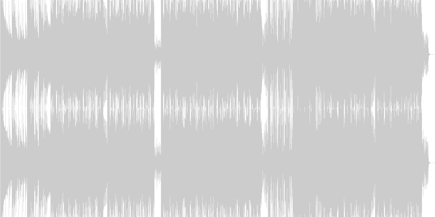 激しく勢いのあるカッコいいダンサブルな曲の未再生の波形