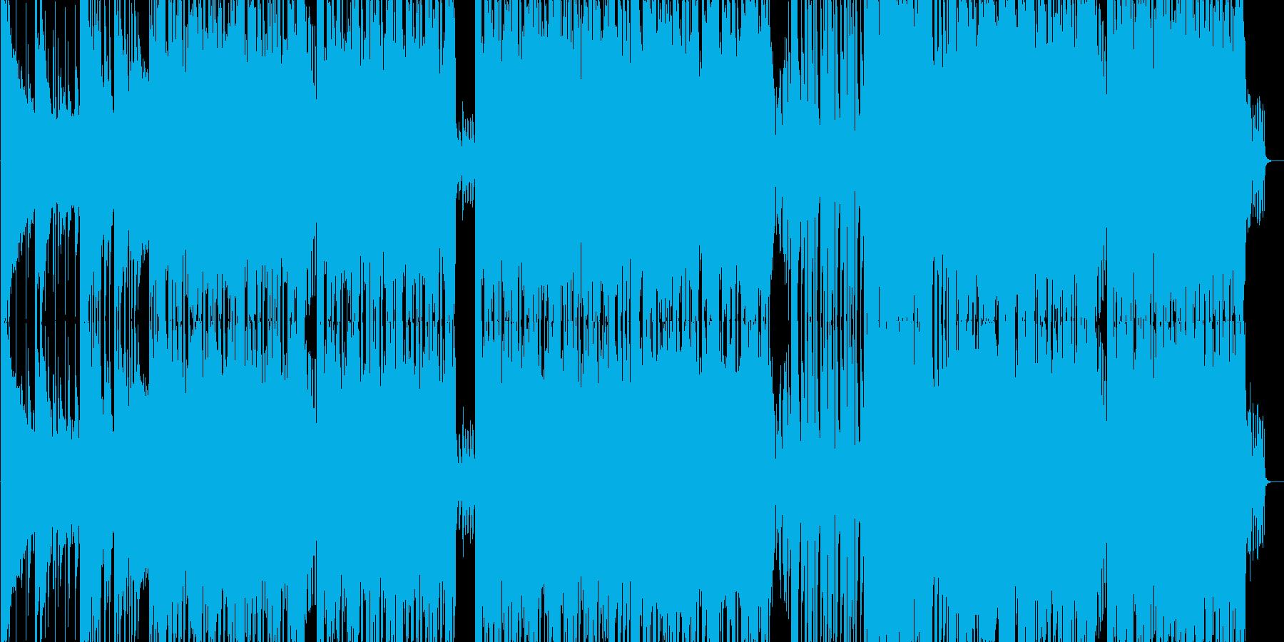 激しく勢いのあるカッコいいダンサブルな曲の再生済みの波形