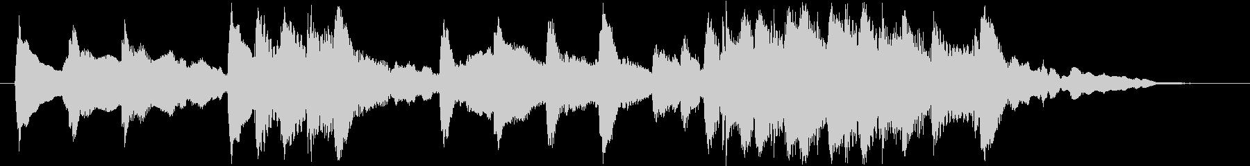 琴と尺八の純和風ロゴの未再生の波形