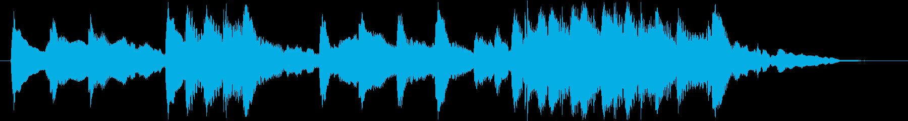 琴と尺八の純和風ロゴの再生済みの波形