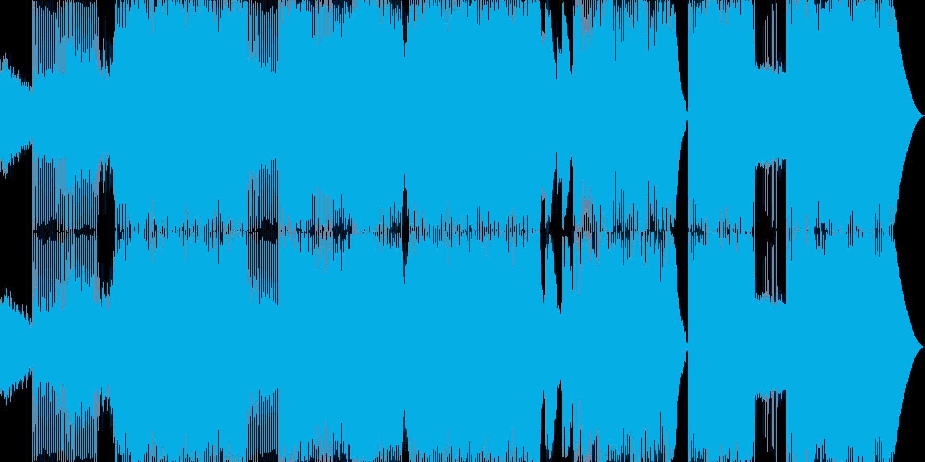 エキサイティングな女性ボーカルのEDMの再生済みの波形