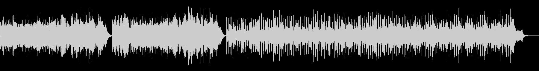 焚き火の音とコラボするBGMの未再生の波形