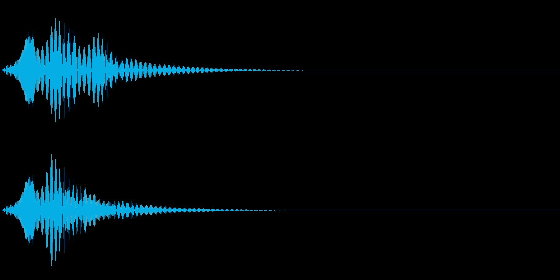 ボワン(状態異常回復・アイテム使用の音)の再生済みの波形