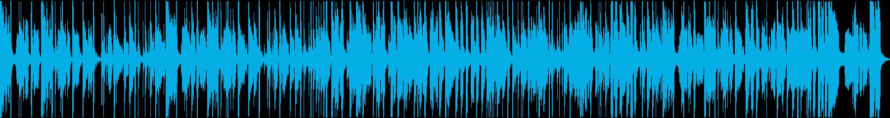 サックスのクールなファンクトラックの再生済みの波形
