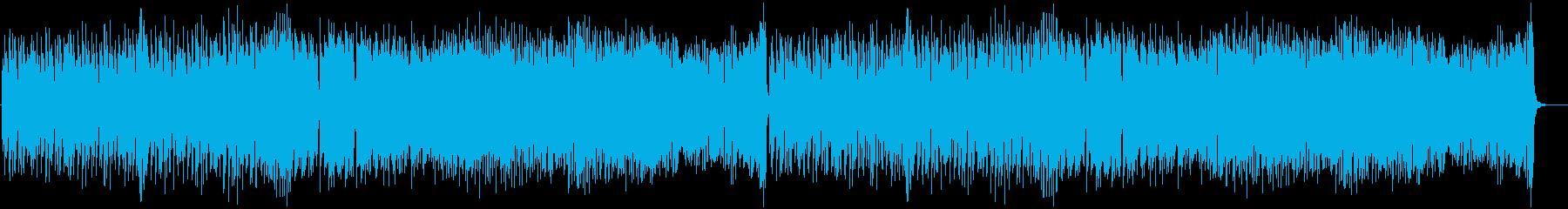 陽気なトロピカルBGMの再生済みの波形