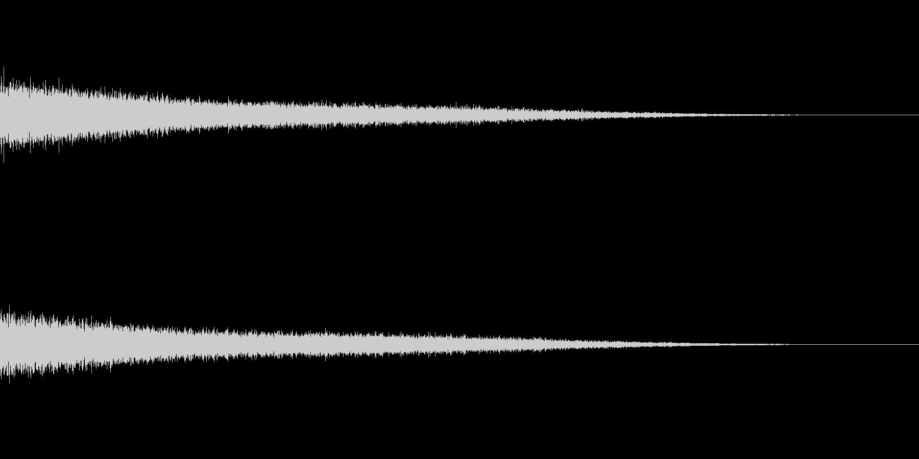 距離感を出した流れ星な音の未再生の波形
