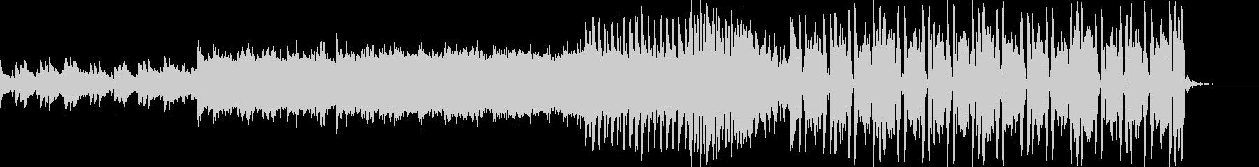 ピアノとシンセが印象的なハウス系ダンス曲の未再生の波形