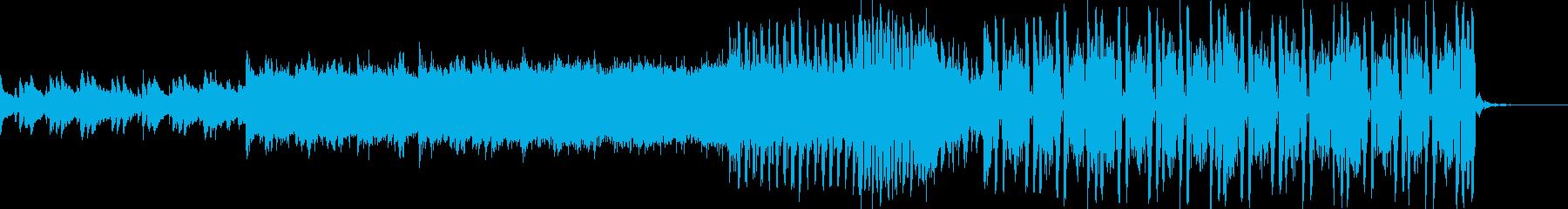 ピアノとシンセが印象的なハウス系ダンス曲の再生済みの波形