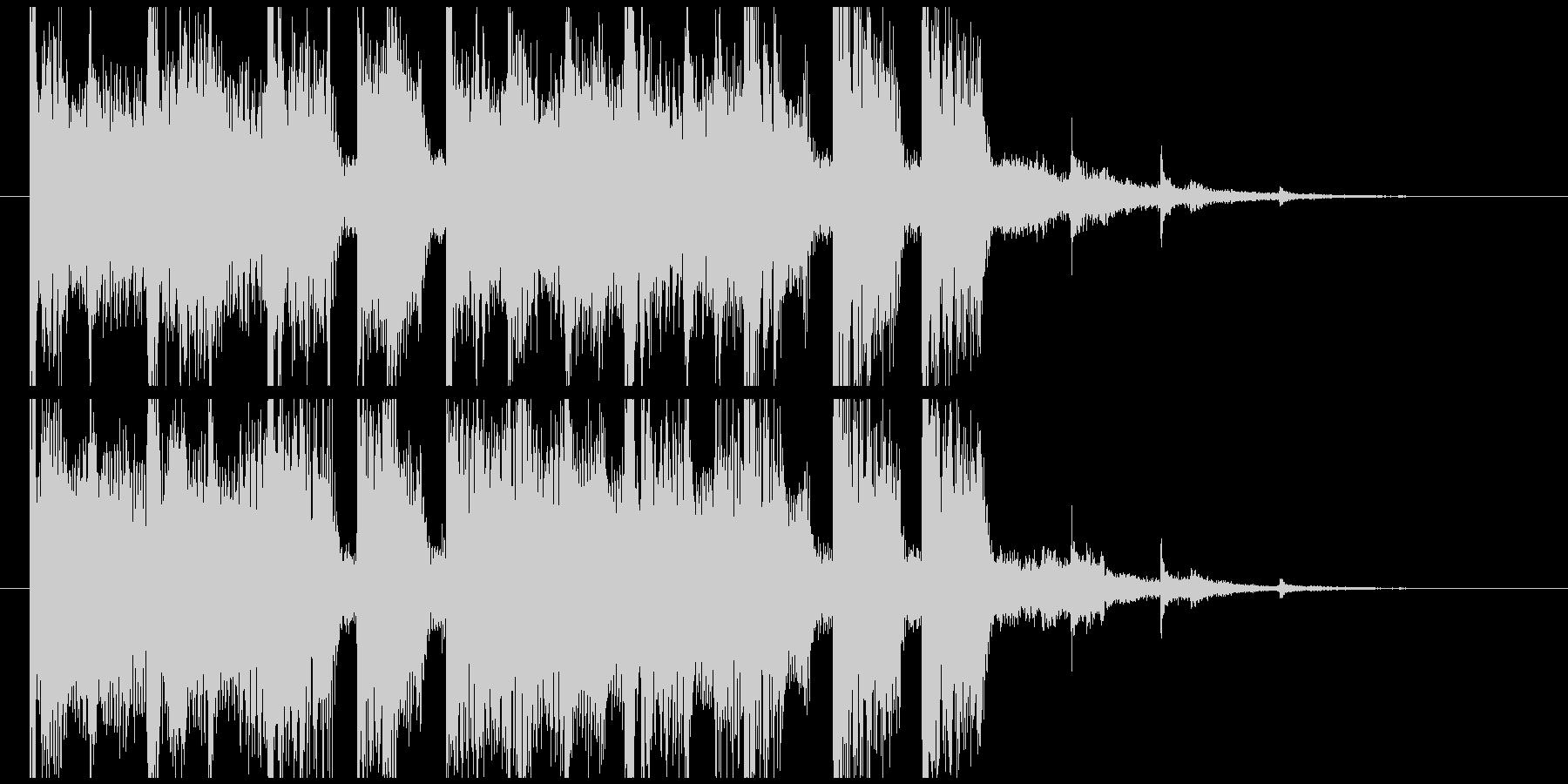 EDMなジングルの未再生の波形