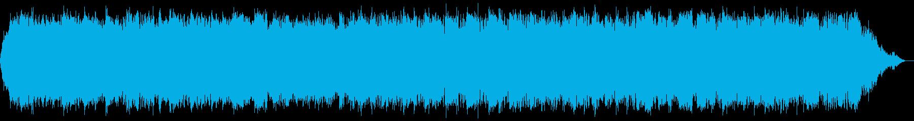 ケーナの落ち着いた即興演奏音楽の再生済みの波形