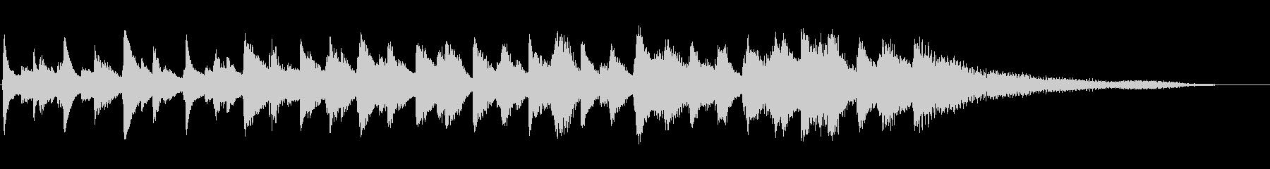 グランドピアノ:スローロールダウン...の未再生の波形