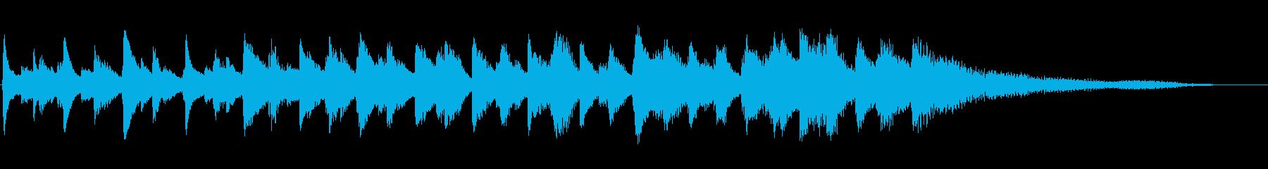 グランドピアノ:スローロールダウン...の再生済みの波形