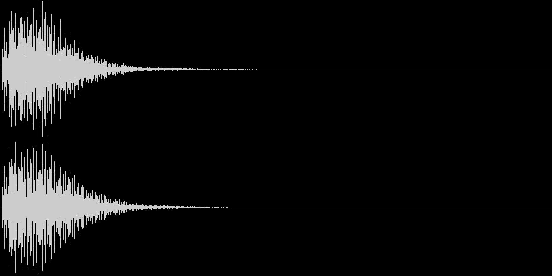 ジャン(操作音・選択・決定音・ボタン音)の未再生の波形