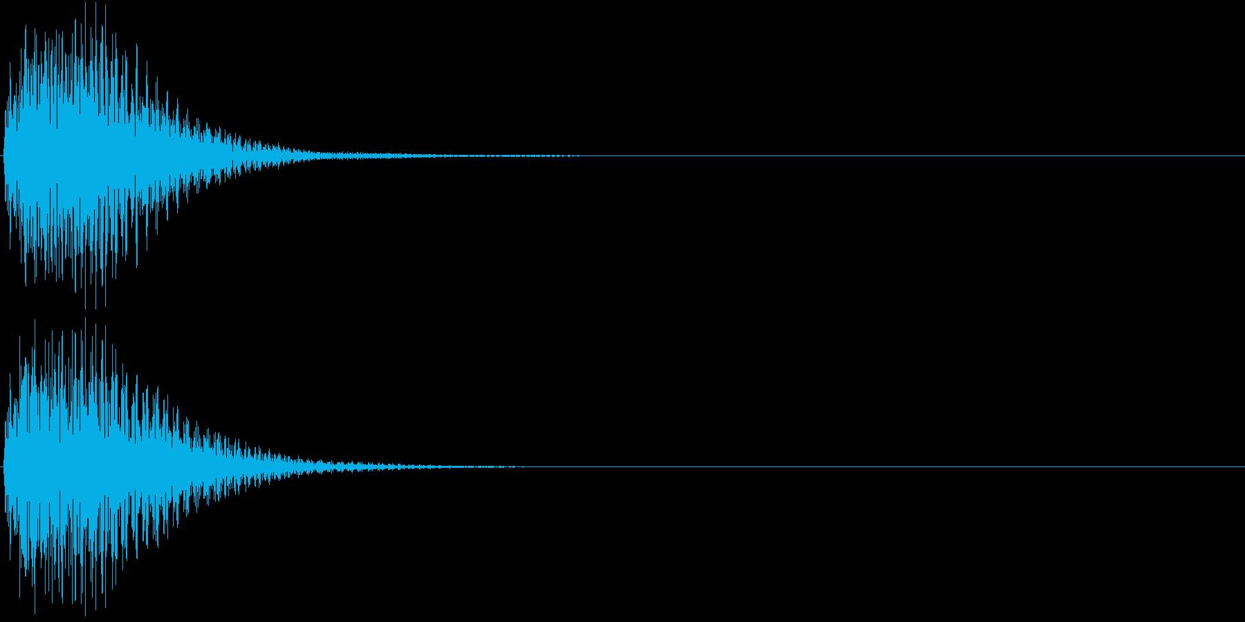 ジャン(操作音・選択・決定音・ボタン音)の再生済みの波形