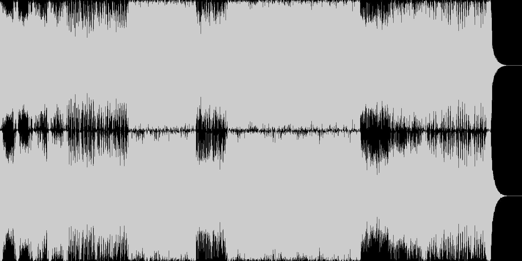 ロックとテクノの融合・ダンスミュージックの未再生の波形