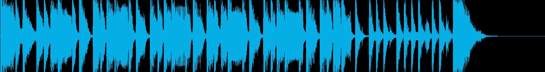 ベースとパーカスによるコミカルなポップスの再生済みの波形