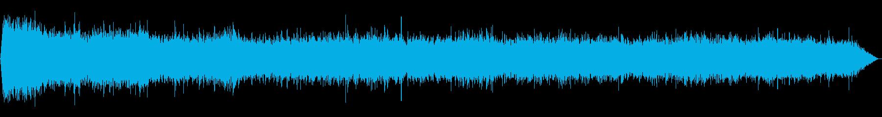強い雨(バイノーラル録音)の再生済みの波形