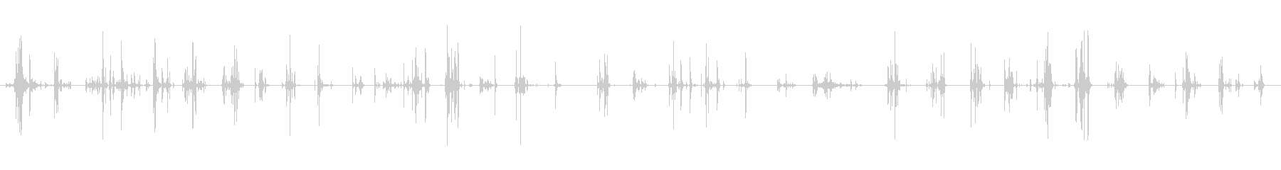がれきの上を歩く 01の未再生の波形