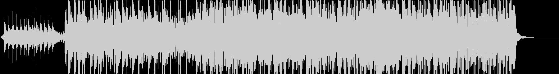 アップテンポな和風曲箏三味線尺八和太鼓の未再生の波形