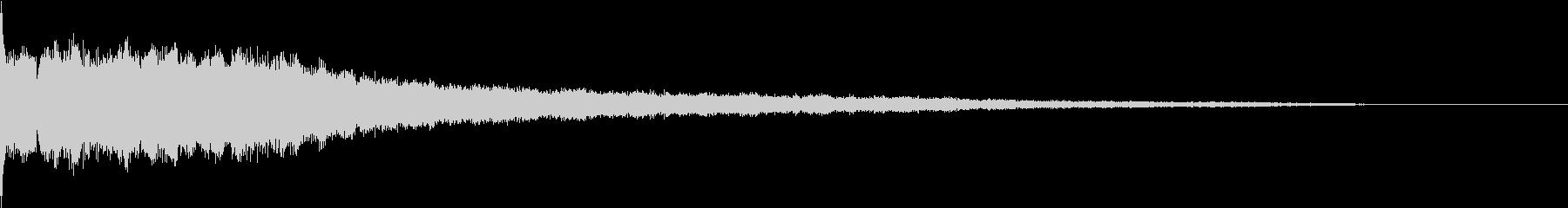ピッ:デジタル起動音の未再生の波形