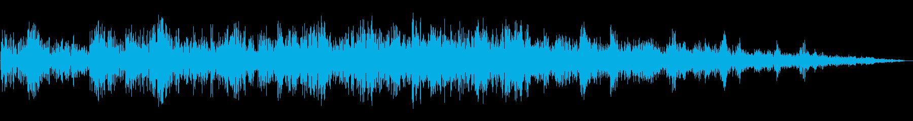 水の流れ入ってくる音の再生済みの波形